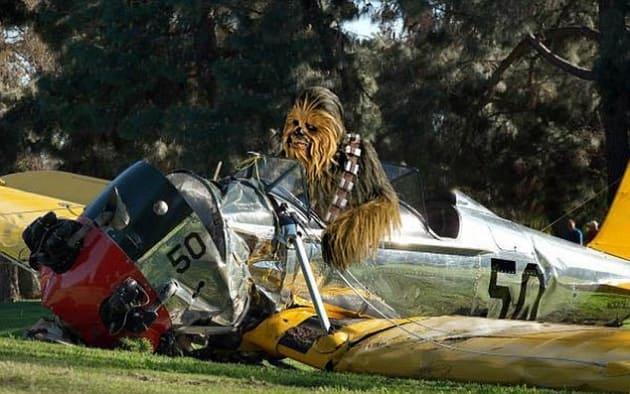 Harrison Ford Plane Crash Wookie
