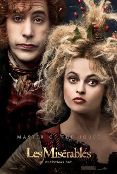 Les Miserables Sacha Baron Cohen Helena Bonham Carter Poster
