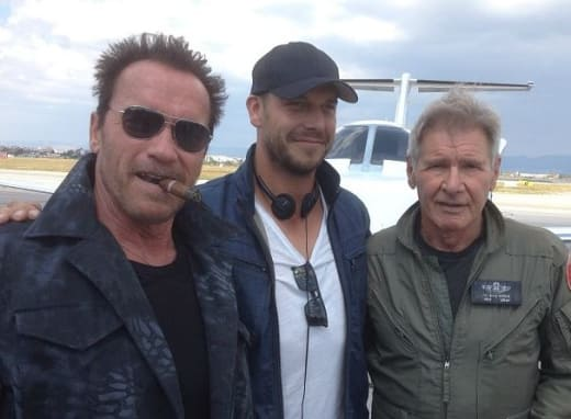 The Expendables 3 Arnold Schwarzenegger Harrison Ford