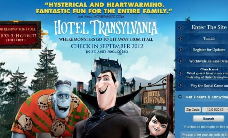Hotel Transylvania Website: Movie Fanatic Quoted