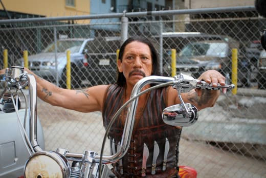 Machete on a Bike
