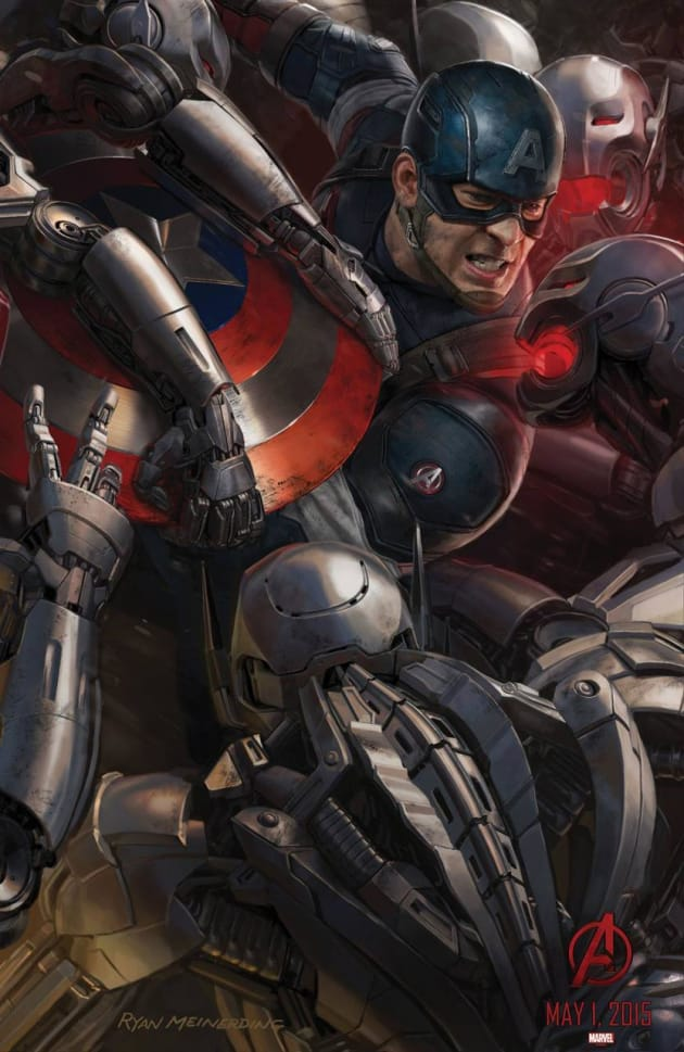Avengers: Age of Ultron Captain America Concept Art Poster