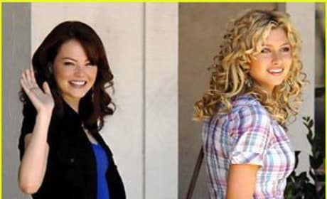 Emma Stone and Amanda Bynes