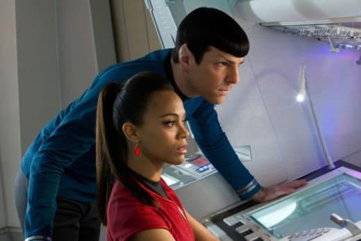 Star Trek Into Darkness Zachary Quinto Zoe Saldana