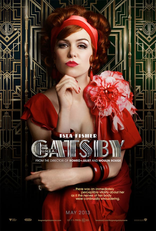 Isla Fisher Great Gatsby Poster