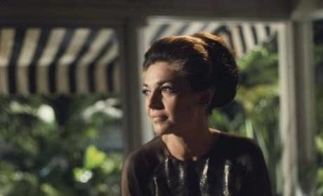 Mrs. Robinson in her house
