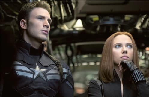 Captain America: Winter Soldier Scarlett Johansson Chris Evans