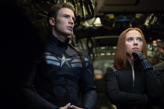 Scarlett Johansson Chris Evans Star Captain America: The Winter Soldier