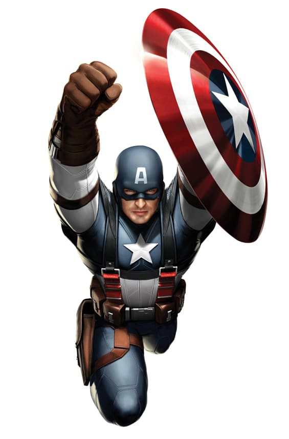 Captain America Costume Art 2
