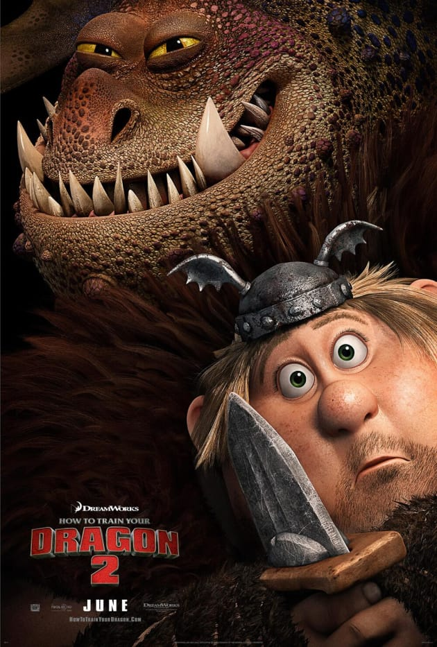 How to Train Your Dragon 2 Fishlegs Character Poster