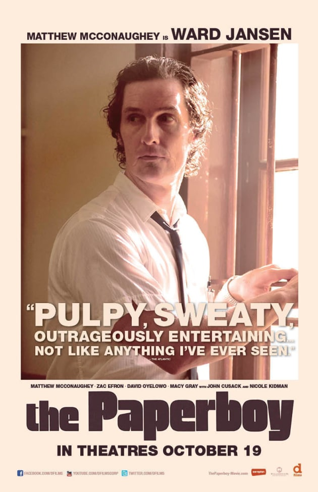 The Paperboy Matthew McConaughey Poster