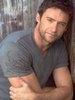 Hugh Jackman in a t-shirt