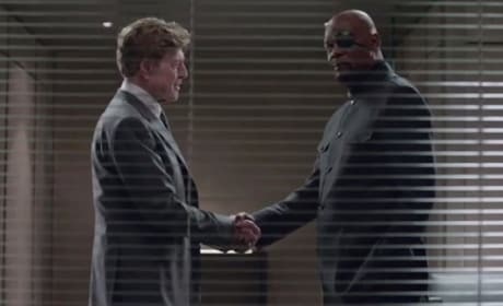 Captain America The Winter Soldier Clip: Samuel L. Jackson Asks Robert Redford a Favor