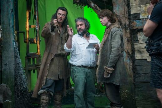 Peter Jackson Luke Evans The Hobbit The Desolation of Smaug