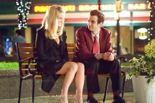 Molly and Kirk Sitting on a Bench