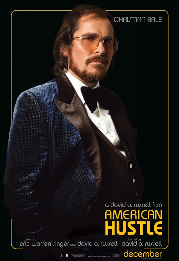 American Hustle Christian Bale Character Poster