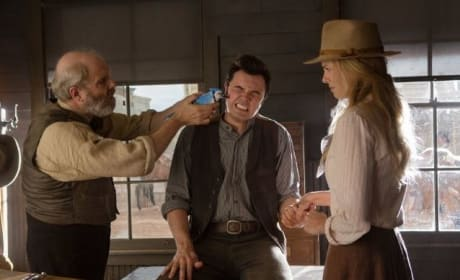 A Million Ways to Die in the West Charlize Theron Seth MacFarlane