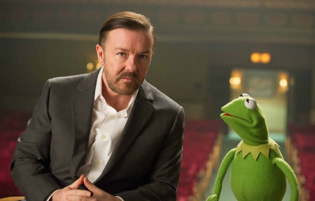 Muppets Most Wanted Ricky Gervais Kermit