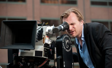 Christopher Nolan The Dark Knight Rises Set Pic