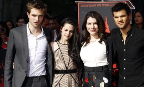 Stephenie Meyer, Robert Pattinson, Kristen Stewart and Taylor Lautner