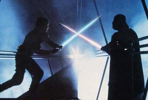 Empire Strikes Back Darth Vader and Luke Skywalker