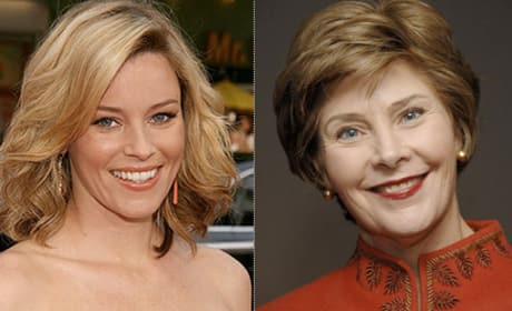 Elizabeth Banks Says Laura Bush is All About the Hair