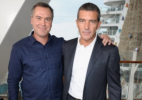 Chris Miller and Antonio Banderas at the Puss in Boots Premiere