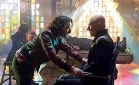 X-Men Days of Future Past James McAvoy and Patrick Stewart