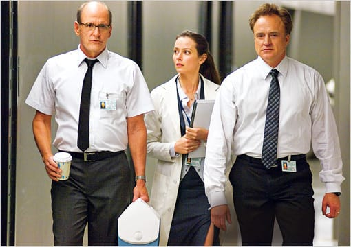 Richard Jenkins and Bradley Whitford in The Cabin in the Woods