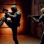 Olivia Thirlby and Karl Urban Dredd 3D