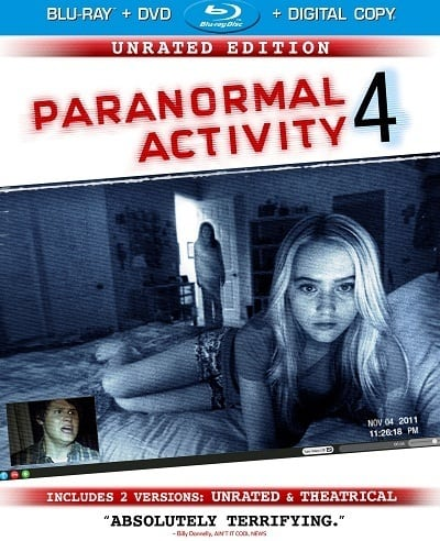 Paranormal Activity 4 DVD