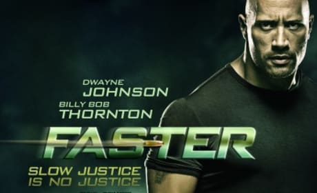 Dwayne Johnson Looks Mean on the Faster Poster!