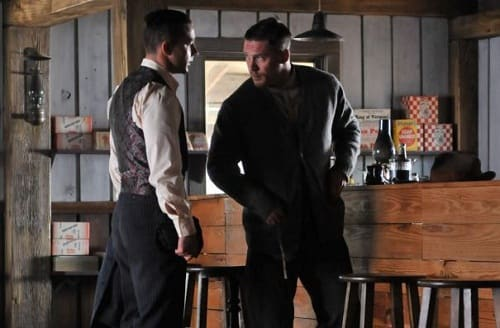 Shia LaBeouf and Tom Hardy in Lawless