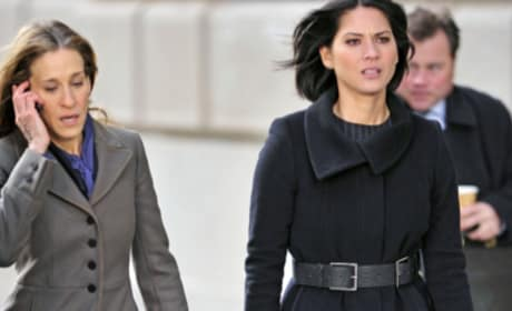Photos of Sarah Jessica Parker and Olivia Munn Filming New Movie
