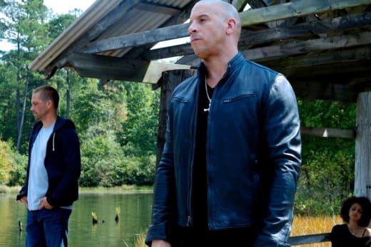 Vin Diesel Paul Walker Fast and Furious 7 Set Photo