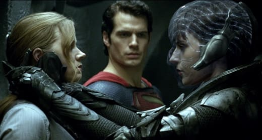Amy Adams and Henry Cavill Man of Steel