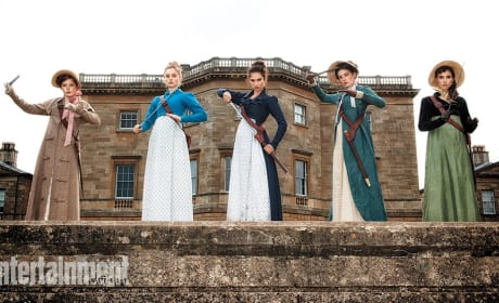 Pride and Prejudice and Zombies Photo: Bennet Sisters Ready for Battle!