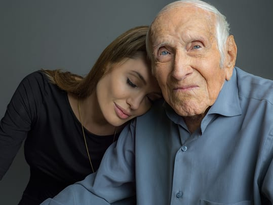 Angie and the Real Louis Zamperini!