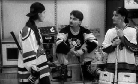 Dante and Randal Play Hockey