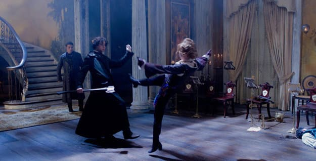Benjamin Walker and Erin Watson in Abraham Lincoln: Vampire Hunter