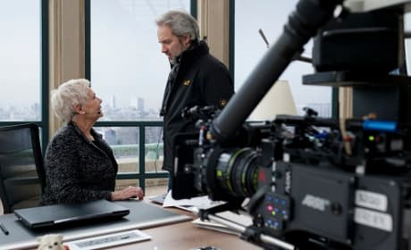 Sam Mendes Directs Judi Dench on Skyfall Set