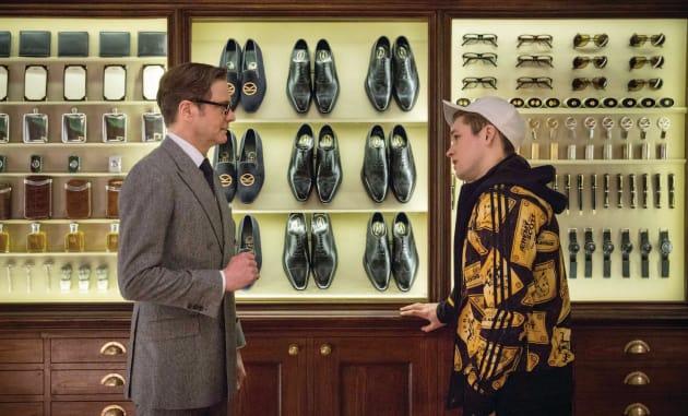 Kingsman The Secret Service Taron Egerton Colin Firth