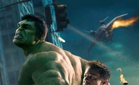 The Hulk and Hawkeye from The Avengers