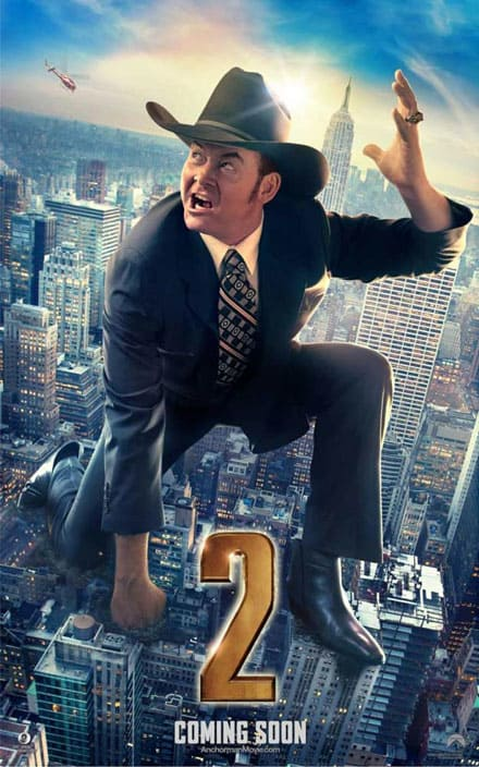 Anchorman 2 Champ Kind Poster