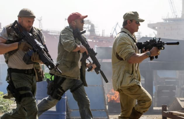 The Expendables 3 Sylvester Stallone Jason Statham Randy Couture