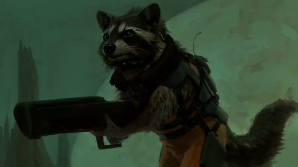 Guardians of the Galaxy Rocket Raccoon Concept Art