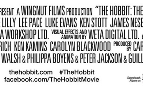 The Hobbit: The Desolation of Smaug Credits Banner