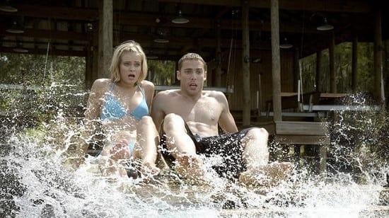 Sara Paxton and Dustin Milligan in Shark Night 3D