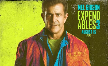The Expendables 3 Mel Gibson Comic Con Poster