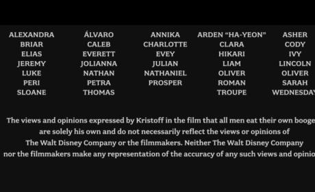 Frozen Baby Names Credits